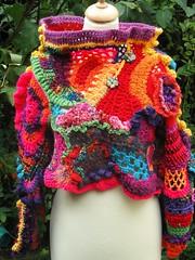 pull BOHEME (lescreasdenine) Tags: pull handmade etsy multicolore piceunique crochetfreeform lescreasdenine