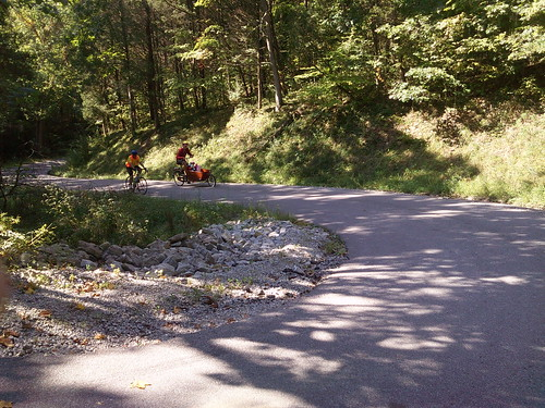 climbing up the switchback on Barbersville Creek Road