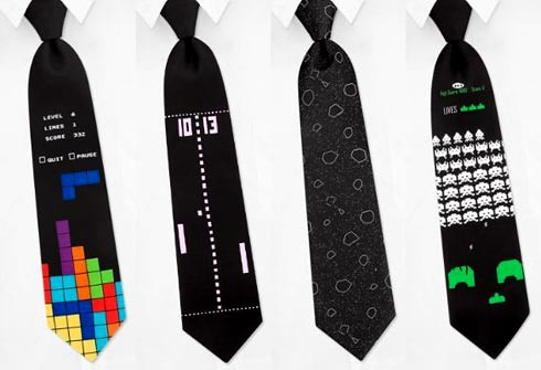 classic-games-necktie-tetris-pong-asteroids-spaceinvaders