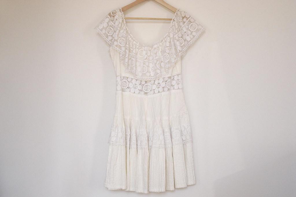 vintage lace bohemian dress