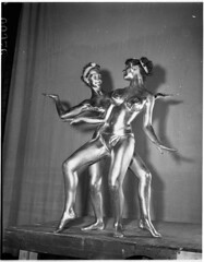 Parisian Moon Dancers in gold paint at the Palladium Theatre, Sydney, 28 September 1955 / Ern McQuillan (State Library of New South Wales collection) Tags: statelibraryofnewsouthwales