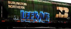 Leek Ave (mightyquinninwky) Tags: graffiti tag graf indiana zee tags bn tagged ave z graff graphiti zombies avenue leek hopper leaky trainart burlingtonnorthern railart taggedtrain grainhopper evansvilleindiana paintedhopper taggedhopper leekave