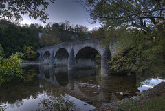Wilson bridge built 1819 (Andrew Aliferis) Tags: autumn fall unitedstates maryland hagerstown aga hdri waterreflections stonearchbridge washingtoncounty photomatix conococheaguecreek silasharry andrewandyaliferis