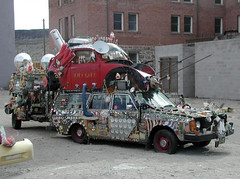 Pimp My Ride... (twm1340) Tags: art car station vw bug volkswagen wagon volvo freak wtf