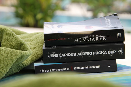 Books by the pool side