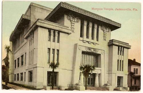 Vintage Postcard-Morocco Temple, Jacksonville, Florida
