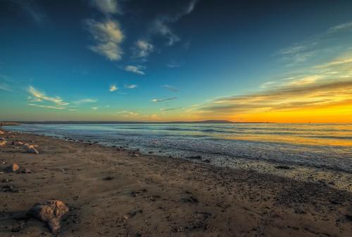 Sunset peace - Llanelli Millenium Quay.  Sunset over Loughor Estuary