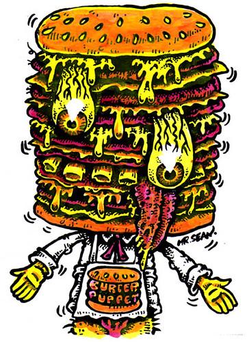 Burger Puppet