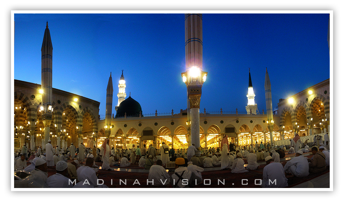 A shot from inside Holy prophet's Mosque in Madinah