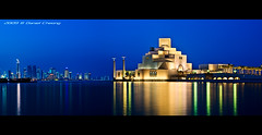 Museum of Islamic Art - Doha (DanielKHC) Tags: blue panorama museum night digital interestingness high nikon dynamic arts explore hour range dri increase hdr islamic doha qatar blending d300 tamron1750mmf28 danielcheong danielkhc gettyimagesmeandafrica1