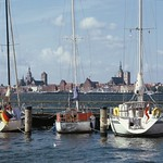 Stralsund: View from the island Rügen