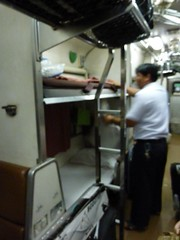 Our sleeper train to Bangkok from Surat Thani