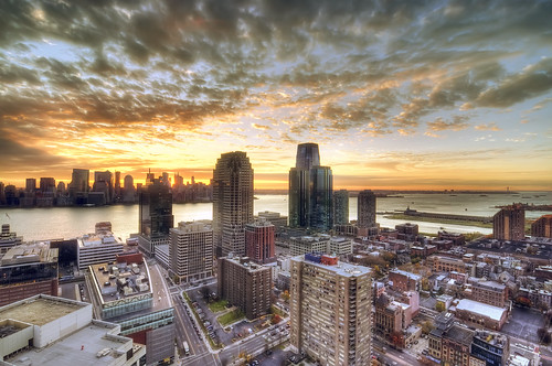 sunrise over new york