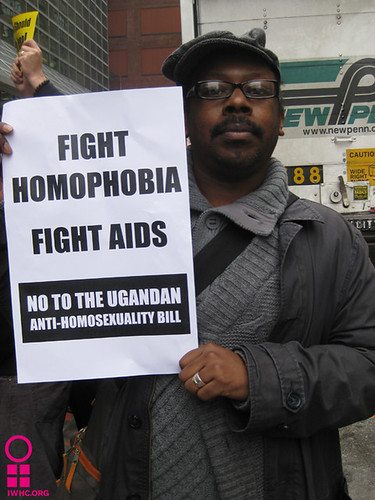 Damon Bolden at November 19th Rally Against Uganda's Anti-Homosexuality Bill