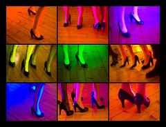 Dance dance dance (Maron) Tags: wood pink blue red orange black color colour green feet colors yellow dance rainbow shoes colours purple fragment kreativ supermarion articulateimages marionnesje