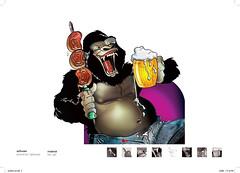 Fome de gorila (eduardowestin) Tags: animal cartoon barriga cerveja picanha gorila gula cartum