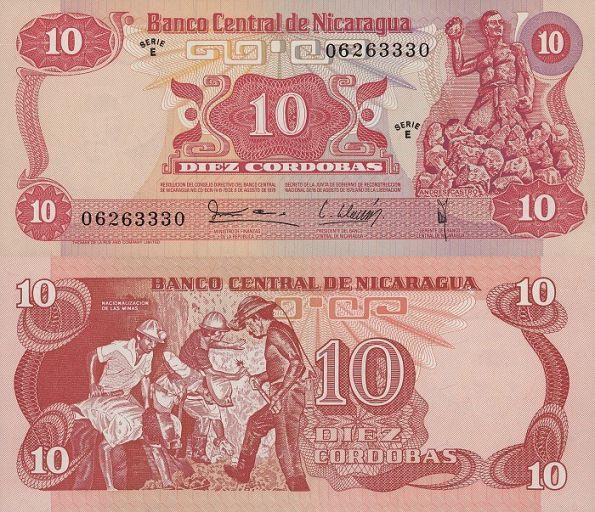 10 Cordobas Nikaragua 1979