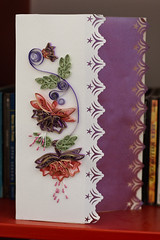 Fuchsias (yorkshirelass49) Tags: birthday purple handmade crafts fuchsia stamens vellum filigree quilling craftworkpaperscrolls
