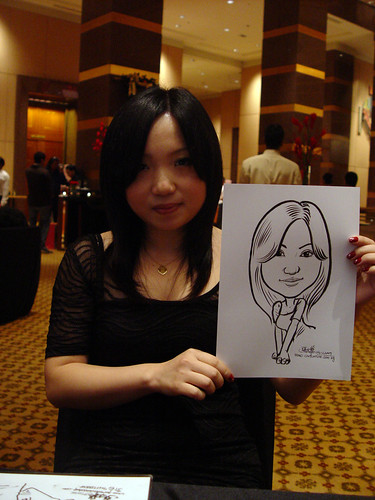 Caricature live sketching for Hitachi Plant Technologies D&D 2009 - 2