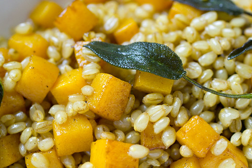 Wheat Berries, Butternut Squash, Brown Butter, Sage