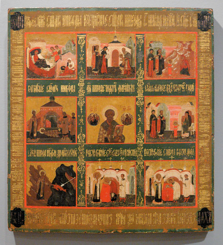 Russian Icon, at the Saint Louis University Museum of Art, in Saint Louis, Missouri, USA - Saint Nicholas 4