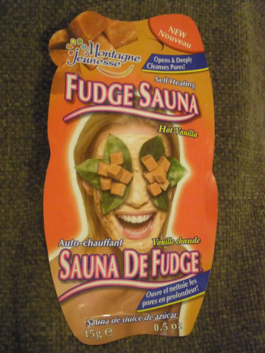 Fudge Sauna facial :o