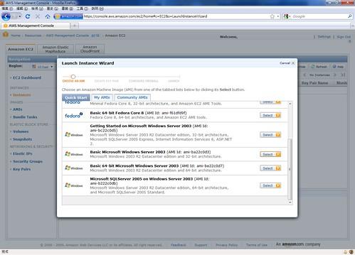 AWS Management Console - Instance @ 20091208