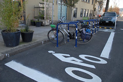 New bike parking on E. Burnside-9