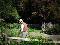 BLACK CREEK (Warren Mackenzie) Tags: trees food tomatoes farming hats fences dirt pioneers vests