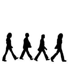 Beatles Silhouettes (jgame_boy) Tags: road abbey silhouette beatles abbeyroad