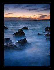 Sunset At Coco Beach (jpmiss) Tags: sunset sea colors digital photoshop de french landscape soleil nice long exposure mediterranean riviera couleurs coucher olympus sunsetbeach cote zuiko dri blending dazur e510 mediterrane 1454mm francelandscapes jpmiss