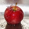 Apple Splash (Samantha Nicol Art Photography) Tags: red food macro art apple water fruit reflections square droplets nikon bokeh splash samantha sb800 nicol