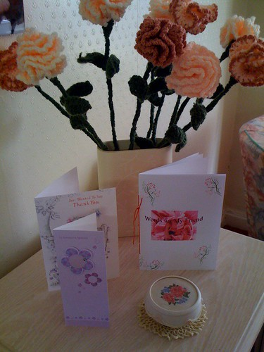 Brenda and myself celebrate 10 years of Friendship. Beautiful cards and gifts.