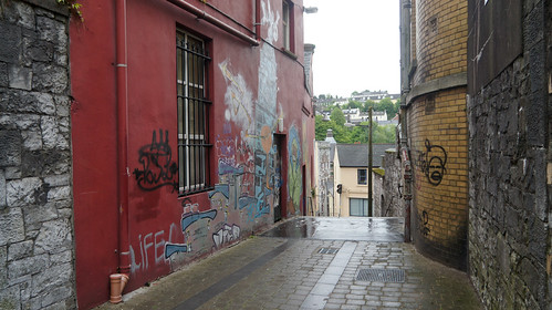 Cork City  consists of Churches, Hills, Steps, Laneways and Breweries