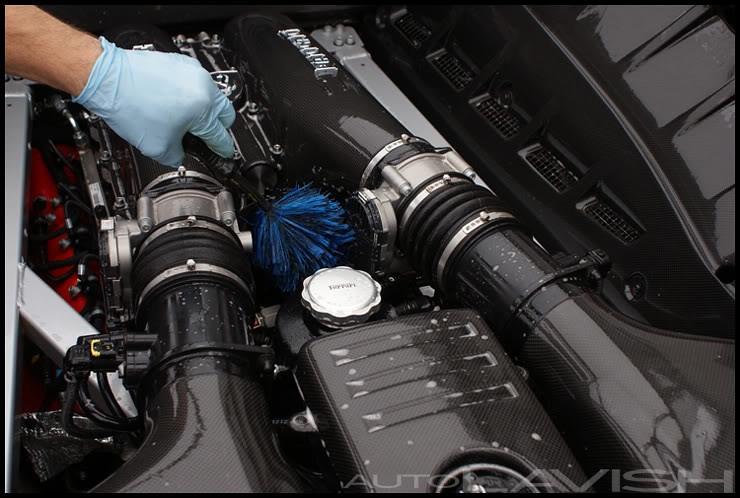 ferrari scud engine bay cleaning