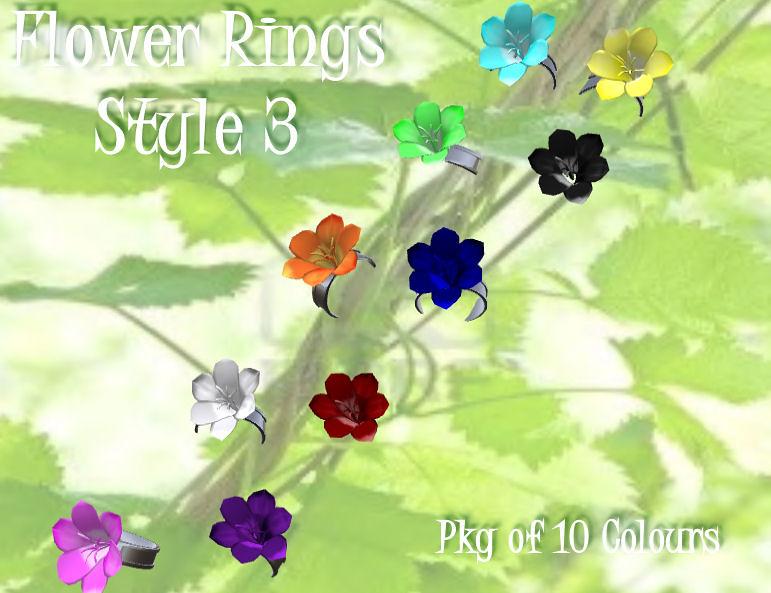 Flower Rings Style 3