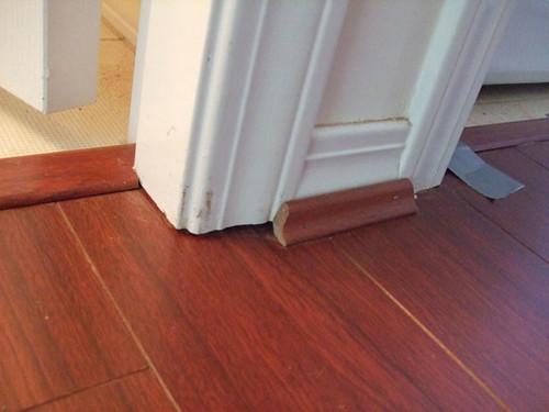 Quarter Round Around Door Casing And Transition Piece