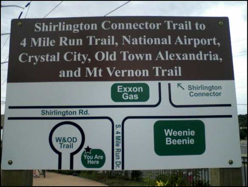 Four Mile Run Trail sign 1