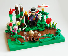 Willy Wonka & the Chocolate Factory (Craig 'Lego' Lyons) Tags: river factory lego chocolate sweets vignette wonka willy loompa oompa moc gloop