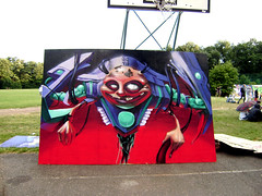 mr.cyborg (mrzero) Tags: art effects graffiti wooden 3d hungary character board budapest meeting colored spraypaint graff cyborg jam collaboration normafa cfs mrzero fatheat