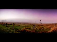Where do you sit on the fence? ([ Kane ]) Tags: sky mist windmill grass fog rural fence landscape farm australia qld queensland kane fogbow esk cokin gledhill kanegledhill kanegledhillphotography