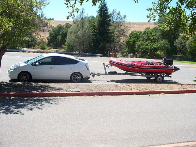 me i just found this pic this is a prius towing a small inflatable
