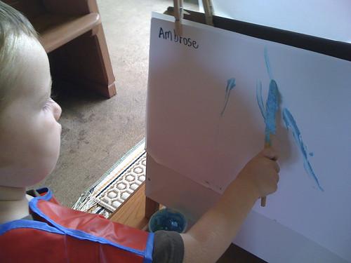 "ambrose likes blue or ""ba-due"""