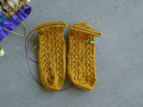 Rapunzel's Braid Socks