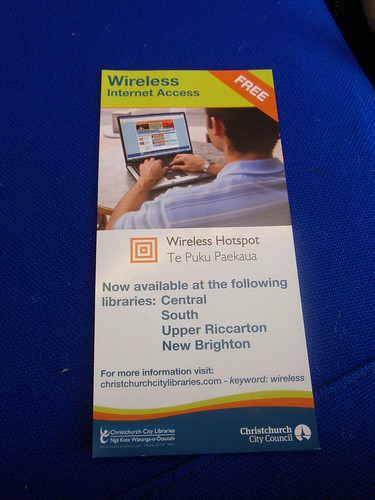 Free Wifi at Christchurch Libraries