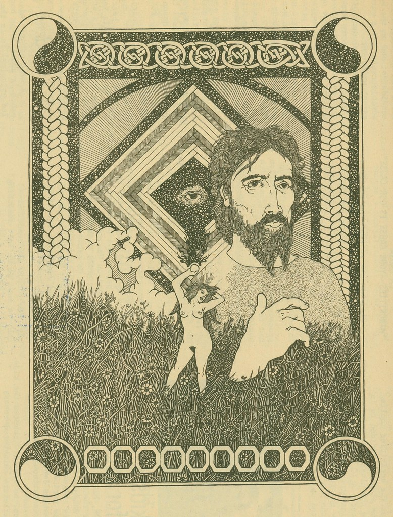 Psychedellic poster, printed in From Out of Sherwood Forest (1971)
