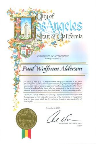 Wolfram Certificate LA Farmers Markets