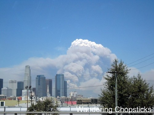 Station Fire Over Downtown Los Angeles 1