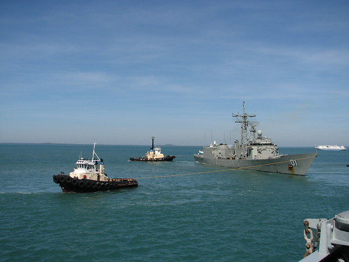 HMAS Adelaide Leaves the Port of Darwin for the Last Time