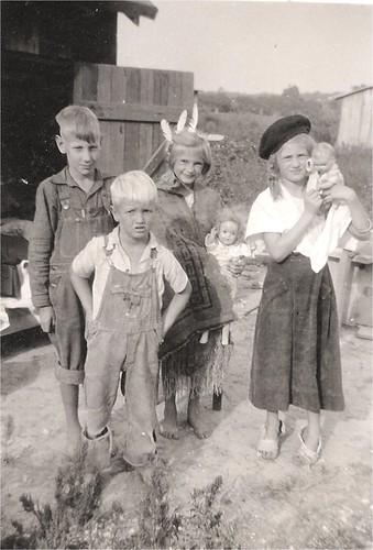 children with dolls
